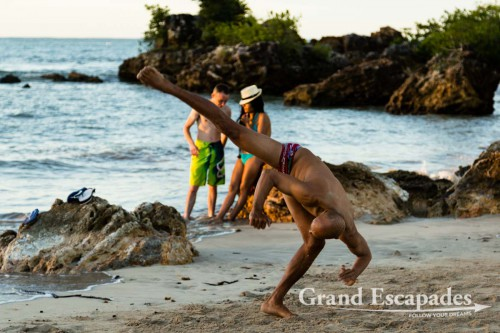 Capoeira training on the beaches of Morro de Sao Paulo, Salvador de Bahia, Brazil