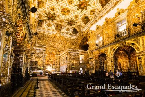 Inside the Church of São Francisco in Anchieta Plaza, Pelourinho, Salvador de Bahia, Brazil