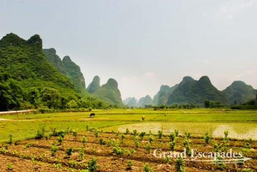 Karst Landscape along Yulong River, Yangshuo, China