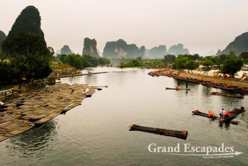 """Cruises"" on Li River, Yangshuo, China"