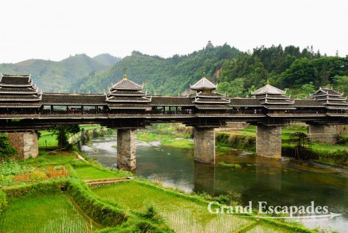 Chengyang Wind & Rain Bridge, Dong Village near Sanjiang, Guilin region, China