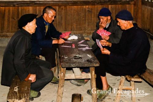 Inside the Drum Tower, in Pingtan Zhai, a Dong Village near Sanjiang, Guilin region, China