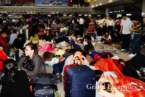 At Chengdu's Airport, after the Earthquake in Chengdu, on May 12th, 2008, at 14:28 - 7.9 on Richter Scale!
