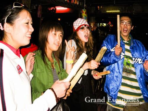 Young Chinese partying in Lijiang, Yunnan, China
