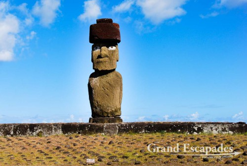 Moai, in Ahu Tahai, close to Hanga Roa, Rapa Nui or Easter Island, Pacific