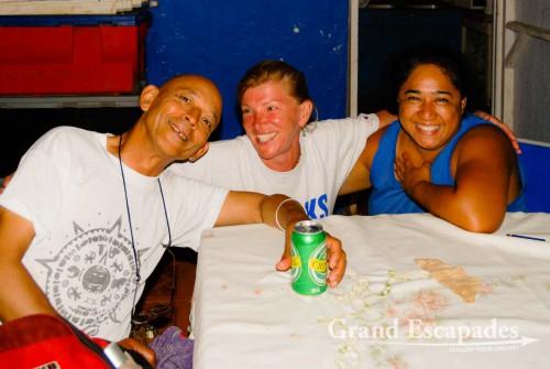 Jerome, Heidi & Pina, Rapa Nui or Easter Island, Pacific