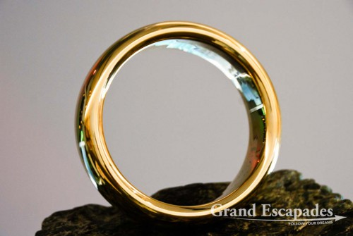"World of Wearable Art, Nelson - THE Ring made for the film Lord Of The Ring: ""In the Land of Mordor where the Shadows lie. One Ring to rule them all, One Ring to find them, One Ring to bring them all and in the darkness bind them"", South Island, New Zealand"