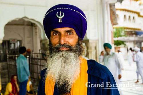 "Security at Harmandir Sahib (Punjabi: ਹਰਿਮੰਦਰ ਸਾਹਿਬ) or Darbar Sahib, also referred to as the ""Golden Temple"", a prominent Sikh Gurdwara or Sikh temple, Amritsar, Punjab, India"