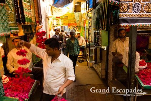 In the bazaar near Hazrat-ud-din Dargah, Delhi, India