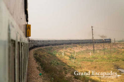 Train from Agra to Jaipur, Rajasthan, India