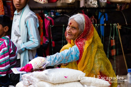 Women at the market in the streets of Pushkar, Rajsthan, India