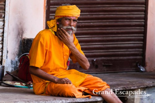 """""""Holy Man"""" in the streets of Pushkar, Rajsthan, India"""