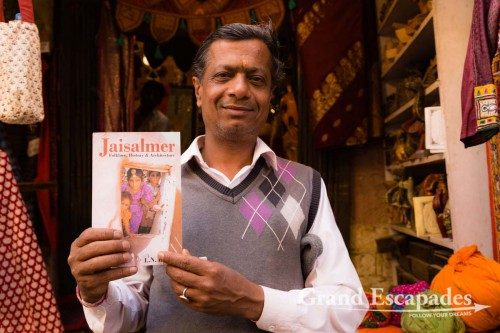 Mr. Kathri, Curator & Owner of the Thar Heritage, Museum, Jaisalmer, Rajasthan, India
