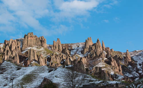Goris - rock formation and ancient cave dwellings