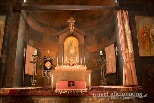 Typical interior of Armenian churches