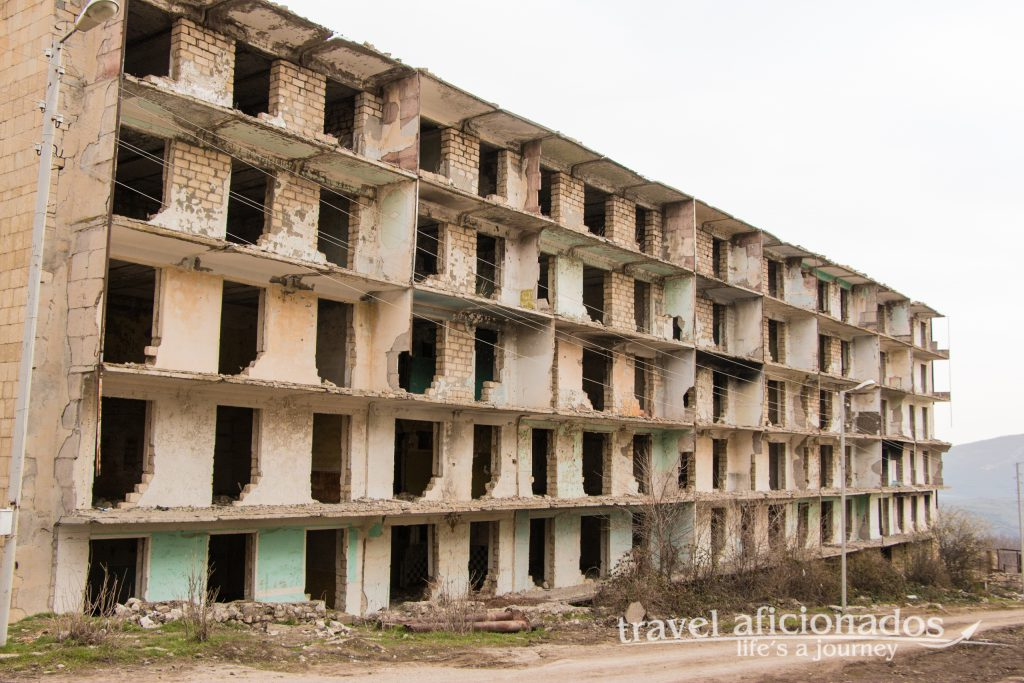 Sushi apartment block destroyed in the war 1991- 1994