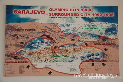 Frontline during siege of Sarajevo