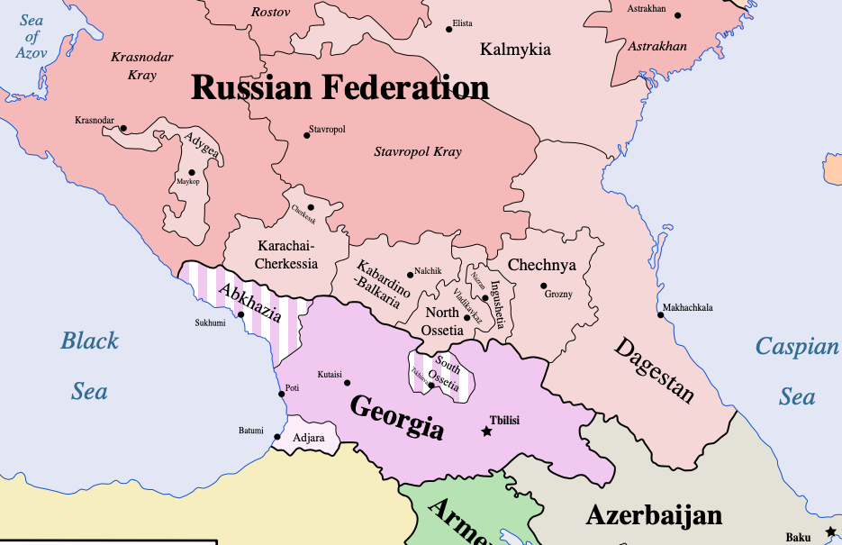 map of Caucasusregion